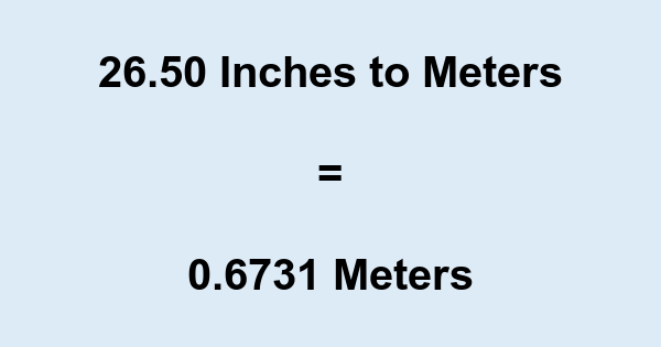 26.50 Inches to Meters