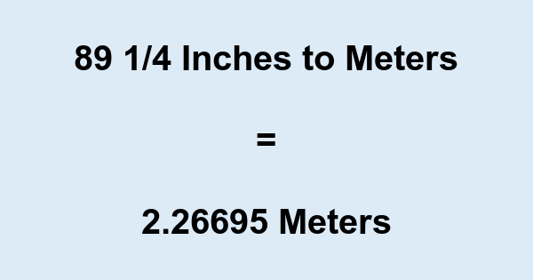 89 1/4 Inches to Meters