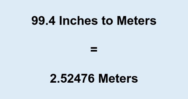 99.4 Inches to Meters